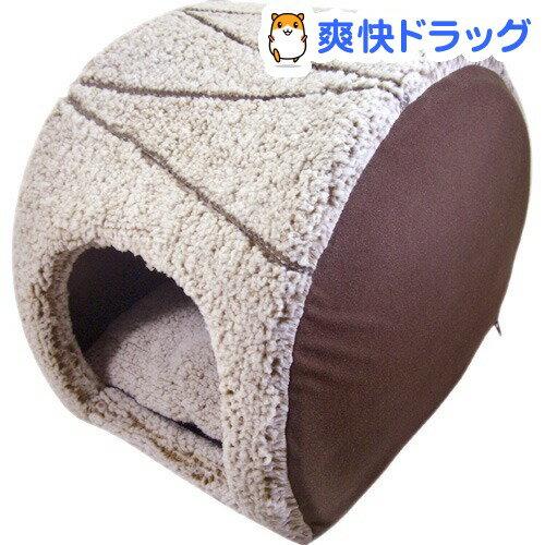 PuChiko ロールケーキベッド マロンチョコ(1コ入)【PuChiko】[ハウス ベッド 犬 猫 ペットベッド ドーム型 あったか]