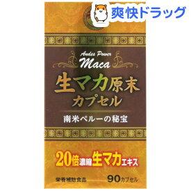 生マカ原末カプセル(90カプセル)【ウェルネスジャパン】