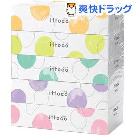 イットコ ティシュ(150組(300枚)*5箱)【イットコ】[ティッシュ]