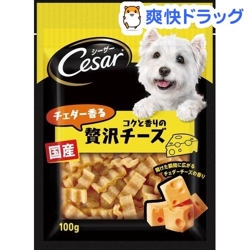シーザースナック チェダー香るコクと香りの贅沢チーズ(100g)【d_cesar】【シーザー(ドッグフード)(Cesar)】