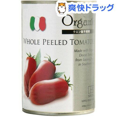創健社 有機ホールトマト缶(400g)【創健社】