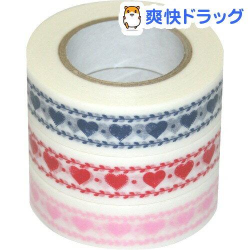 D tape 印刷柄マスキングテープ 15mm 3本パック CH DT15-3P-15(3本入)【ナカバヤシ】