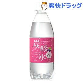 【訳あり】国産 天然水仕込みの炭酸水 カシス(500mL*24本入)