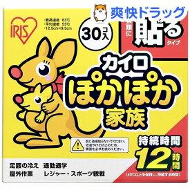 アイリスオーヤマ ぽかぽか家族 貼るレギュラー PKN-30HR(30コ入)【アイリスオーヤマ】
