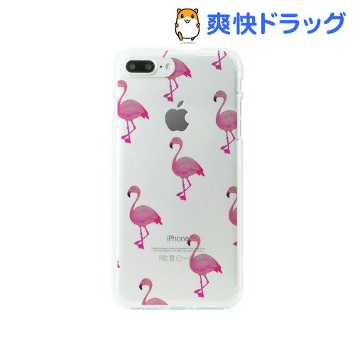ディーパークス iPhone7 PLus ソフトクリアケース フラミンゴ DS9089i7P(1コ入)【ディーパークス(DPARKS)】