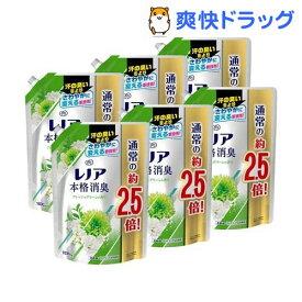 レノア 本格消臭 柔軟剤 フレッシュグリーンの香り 詰替 特大(1030ml*6袋セット)【レノア超消臭】
