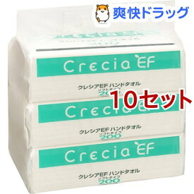 クレシアEF ハンドタオル ソフトタイプ(200組(400枚入)*3個入*10セット)