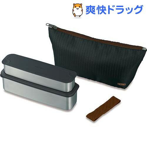 サーモス フレッシュランチボックス DSA-802W K クロ(1コ入)【サーモス(THERMOS)】