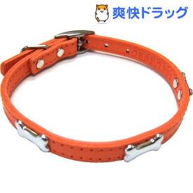 ダブルレザーカラーボーン オレンジ Mサイズ(1コ入)