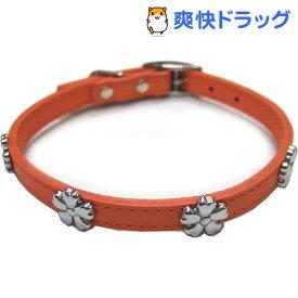 ダブルレザーカラーフラワー オレンジ Mサイズ(1コ入)