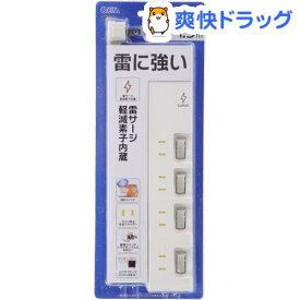 4口1.5m節電タップ雷ガード付(1コ入)