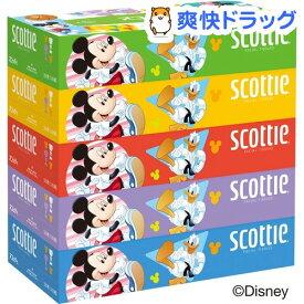 スコッティ ティッシュ ディズニーパッケージ 320枚(160組)(5箱パック)【スコッティ(SCOTTIE)】[ティッシュ]