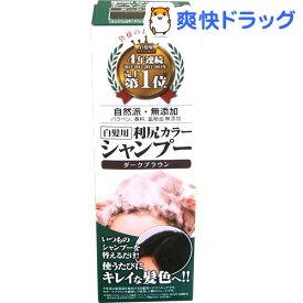 利尻カラーシャンプー ダークブラウン(200ml)[白髪隠し]