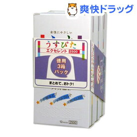 コンドーム ジャパンメディカル うすぴた 2500(12コ*3箱入)【うすぴた】