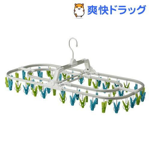 コグレ アルミジャンボ角ハンガー52 グリーン&ブルー(1コ入)【コグレ(kogure)】【送料無料】
