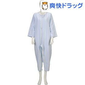 ソフトケア ねまき 両開きファスナー 薄手 ブルー L(1枚入)【ソフトケア(介護用品)】