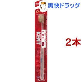ケント(KENT) 豚毛 歯ブラシ かため(1本入*2コセット)【ケント】