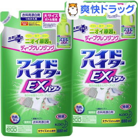 ワイドハイター EXパワー 漂白剤 詰め替え 大サイズ(880mL*2コセット)【ワイドハイター】[漂白剤 抗菌 消臭 つめかえ 詰替 液体 まとめ買い]