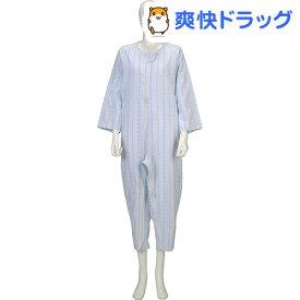 ソフトケア ねまき 両開きファスナー 薄手 ブルー LL(1枚入)【ソフトケア(介護用品)】