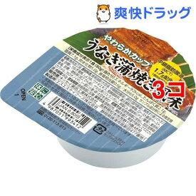 キッセイ やわらかカップ うなぎ蒲焼き風味(80g*3コセット)【キッセイ】