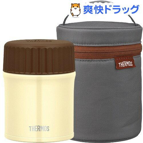 サーモス スープジャー 0.38L(ホワイト)&ポーチ(グレー) セット(1セット)【サーモス(THERMOS)】