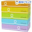 イットコ ティシュ(150組(300枚)*5箱)【イットコ】