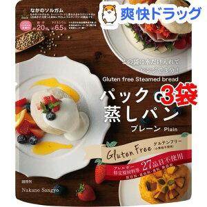 パック de 蒸しパン(80g*3コセット)【中野産業】