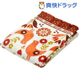 西川 ニューマイヤー毛布 ぬくもりの森シリーズ 2CR1200 レッド(1枚入)【ぬくもりの森】