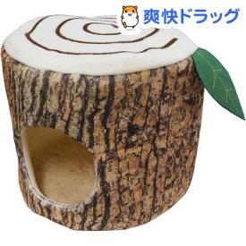 ウサギのふわふわ切り株ベッド(1コ入)【ミニアニマン】