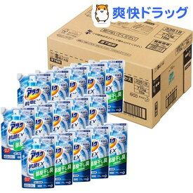 アタック 抗菌EX スーパークリアジェル 洗濯洗剤 詰め替え 梱販売用(770g*15コ入)【アタック】