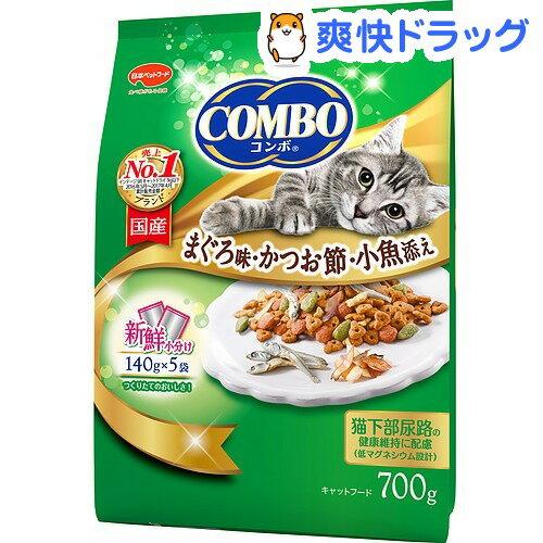 コンボ 猫下部尿路の健康維持 まぐろ味・かつお節・小魚添え(140g*5袋入)【コンボ(COMBO)】