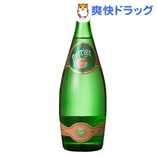 ペリエ ピンクグレープフルーツ グラスボトル(無果汁・炭酸水)(750mL*12本入)【ペリエ(Perrier)】[ピンク ミネラルウォーター 水]