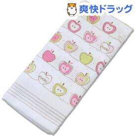 今治産 布ごよみ フェイスタオル りんご ピンク 39658(1枚入)