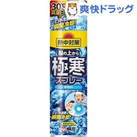 熱中対策 服の上から極寒スプレー 無香料(330ml)【熱中対策】