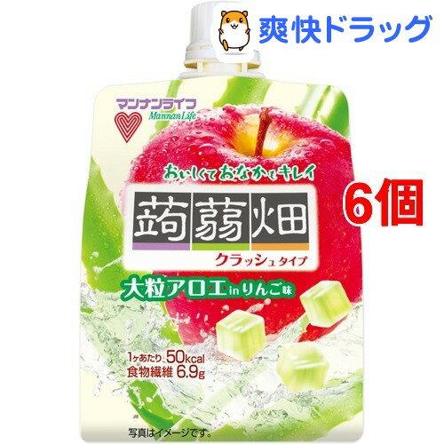 大粒アロエinクラッシュタイプの蒟蒻畑 りんご味(150g*6個セット)【蒟蒻畑】