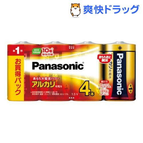 パナソニック パナソニック アルカリ乾電池 単1形 LR20XJ/4SW(4本入)