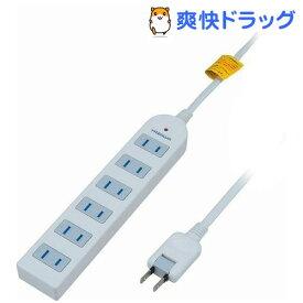 雷サージ付延長コード・タップ 6個口 5m ホワイト Y02KS605WH(1コ入)
