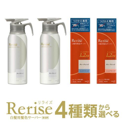 Rerise(リライズ) 白髪用髪色サーバーグレーアレンジ 1本 | 本体(155g)orつけかえ専用(190g)[仕上がりタイプ別2種]