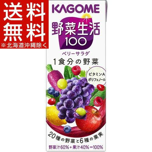 カゴメ 野菜生活100 ベリーサラダ(200mL*24本入)【野菜生活】【送料無料(北海道、沖縄を除く)】