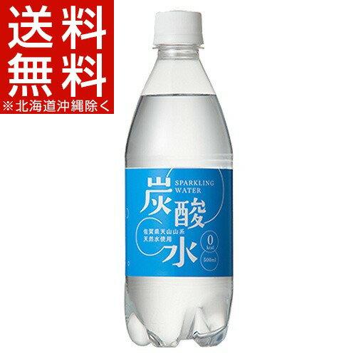 国産 天然水仕込みの炭酸水 ナチュラル(500mL*24本入)[炭酸水 500ml 24本 国産 強炭酸水]【送料無料(北海道、沖縄を除く)】