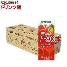 伊藤園 理想のトマト 30日分BOX 紙パック(200ml*90本セット)