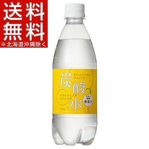国産 天然水仕込みの炭酸水 レモン(500mL*24本入)[炭酸水 500ml 24本 国産 強炭酸水]【送料無料(北海道、沖縄を除く)】