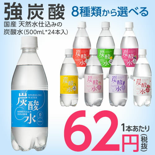 国産 天然水仕込みの炭酸水(500mL*24本入)