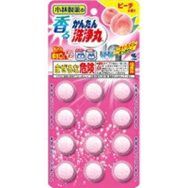【10000円以上で本州・四国送料無料】小林製薬 香るかんたん洗浄丸 ピーチの香り 12錠