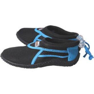 TASMANIA SURF塔斯马尼亚冲浪潜水鞋TS-7851黑色/蓝色20-21cm[Ebisu编织物塔斯马尼亚冲浪]