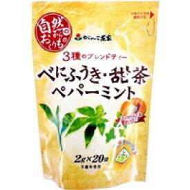 【10000円以上で本州・四国送料無料】がんこ茶家 3種のブレンドティー べにふうき・甜茶・ペパーミント(2g*20袋入)