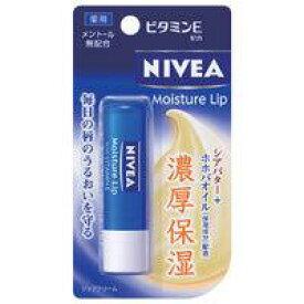 【メール便発送送料無料】花王 NIVEA Moisture lip ニベアリップケア ビタミンE 3.9g