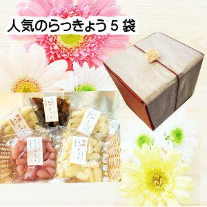 母の日ギフト 人気のらっきょう大好きセット 和風モダンな箱でプレゼント 送料無料