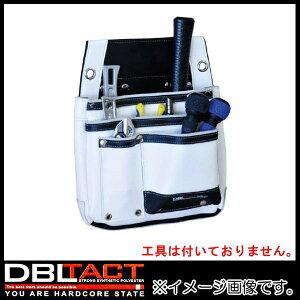 DBLTACT 本革釘袋 2段 DTL-07-WH ホワイト 腰袋