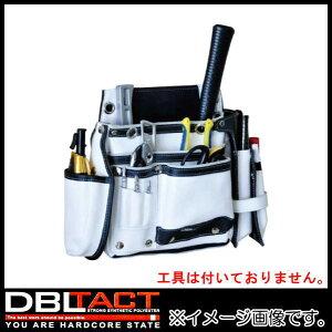 DBLTACT 本革釘袋 2段 DTL-99-WH ホワイト 腰袋